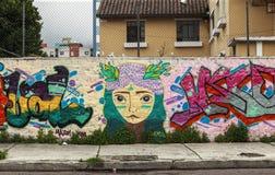 Γκράφιτι στην οδό του Κουίτο Στοκ φωτογραφίες με δικαίωμα ελεύθερης χρήσης