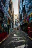 Γκράφιτι στην πάροδο της Μελβούρνης Hosier Στοκ φωτογραφία με δικαίωμα ελεύθερης χρήσης