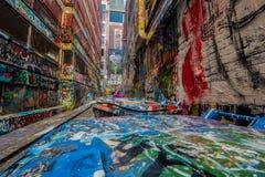Γκράφιτι στην πάροδο της Μελβούρνης Hosier Στοκ εικόνες με δικαίωμα ελεύθερης χρήσης