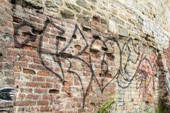 Γκράφιτι στην πόλη του Κεμπέκ Στοκ Εικόνα