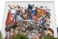 Γκράφιτι στην πόλη του Angouleme, κεφάλαιο της ιστορίας σε σκίτσα Στοκ φωτογραφία με δικαίωμα ελεύθερης χρήσης