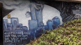 γκράφιτι στη Γερμανία, τρομοκρατική πράξη στη Νέα Υόρκη Στοκ Φωτογραφίες