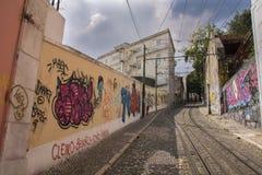Γκράφιτι στη Λισσαβώνα Στοκ Φωτογραφίες