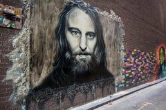Γκράφιτι στη Μελβούρνη CBD Στοκ Εικόνες
