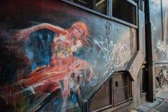 Γκράφιτι στη Μελβούρνη CBD Στοκ φωτογραφία με δικαίωμα ελεύθερης χρήσης