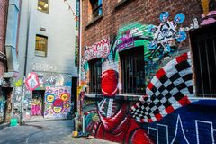 Γκράφιτι στη Μελβούρνη CBD Στοκ Εικόνα