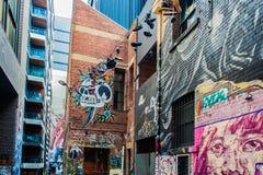 Γκράφιτι στη Μελβούρνη CBD Στοκ Φωτογραφίες
