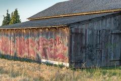 Γκράφιτι στη σιταποθήκη Στοκ Εικόνα