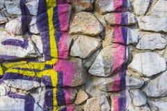 Γκράφιτι στις πέτρες Στοκ Φωτογραφίες