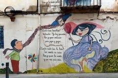 Γκράφιτι στον τοίχο ενός κτηρίου στην Αλικάντε Στοκ Φωτογραφίες