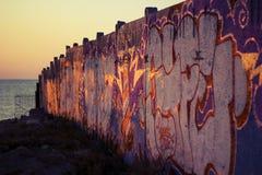 Γκράφιτι στον τοίχο κοντά στη Μαύρη Θάλασσα Στοκ φωτογραφίες με δικαίωμα ελεύθερης χρήσης