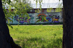 Γκράφιτι στον τοίχο Στοκ φωτογραφίες με δικαίωμα ελεύθερης χρήσης