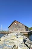 Γκράφιτι στους βράχους και την οικοδόμηση Στοκ Φωτογραφία