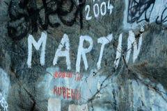 Γκράφιτι στο βράχο Στοκ Εικόνα