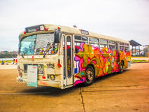 Γκράφιτι στο λεωφορείο Στοκ εικόνες με δικαίωμα ελεύθερης χρήσης