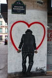 Γκράφιτι στο Παρίσι Στοκ φωτογραφίες με δικαίωμα ελεύθερης χρήσης