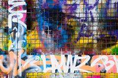 γκράφιτι συνόρων Στοκ φωτογραφία με δικαίωμα ελεύθερης χρήσης