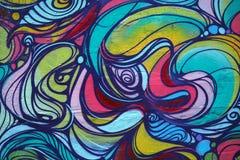 Γκράφιτι - σχέδια χρώματος ουράνιων τόξων Στοκ Εικόνες