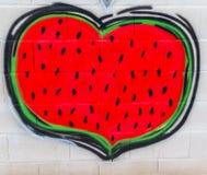 Γκράφιτι τέχνης οδών μιας καρδιά-διαμορφωμένης ιερότητας ελεύθερη απεικόνιση δικαιώματος