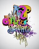 γκράφιτι τέχνης σύγχρονα ελεύθερη απεικόνιση δικαιώματος