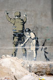 γκράφιτι της Βηθλεέμ Στοκ φωτογραφία με δικαίωμα ελεύθερης χρήσης