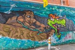 Γκράφιτι της Μελβούρνης Στοκ Εικόνες