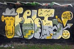 Γκράφιτι τοίχων Στοκ Φωτογραφίες