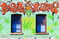 Γκράφιτι Τορόντο Καναδάς αγοράς Kensington Στοκ φωτογραφίες με δικαίωμα ελεύθερης χρήσης