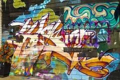 Γκράφιτι Τορόντο Καναδάς αγοράς Kensington Στοκ Εικόνα