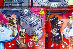 Γκράφιτι Τορόντο Καναδάς αγοράς Kensington Στοκ Φωτογραφία