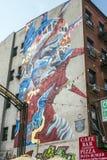 Γκράφιτι του αγάλματος της ελευθερίας την σε λίγη Ιταλία στη Νέα Υόρκη Στοκ Φωτογραφίες