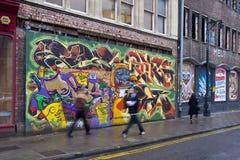 γκράφιτι του Μπρίστολ Στοκ εικόνα με δικαίωμα ελεύθερης χρήσης