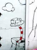 Γκράφιτι του Σάο Πάολο Στοκ Φωτογραφία