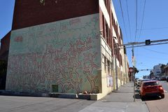 Γκράφιτι του Keith Haring ` s Στοκ Εικόνες