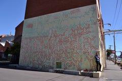 Γκράφιτι του Keith Haring ` s Στοκ εικόνα με δικαίωμα ελεύθερης χρήσης