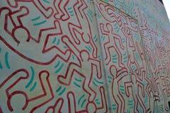 Γκράφιτι του Keith Haring ` s Στοκ Εικόνα