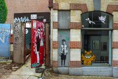 Γκράφιτι των Βρυξελλών Στοκ Φωτογραφία