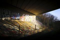 Γκράφιτι υπόγειων διαβάσεων στοκ φωτογραφίες με δικαίωμα ελεύθερης χρήσης