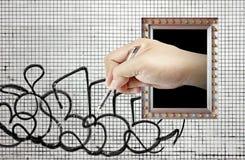 γκράφιτι φανταστικά Στοκ Εικόνες