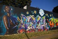 γκράφιτι φεστιβάλ καλλι&ta Στοκ Εικόνα