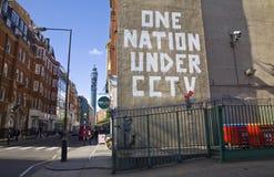 Γκράφιτι Banksy Στοκ φωτογραφία με δικαίωμα ελεύθερης χρήσης