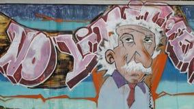γκράφιτι einstein Στοκ εικόνες με δικαίωμα ελεύθερης χρήσης