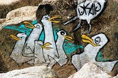 Γκράφιτι penguins Στοκ εικόνα με δικαίωμα ελεύθερης χρήσης