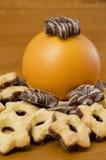 Γκρέιπφρουτ και μπισκότα Στοκ φωτογραφία με δικαίωμα ελεύθερης χρήσης