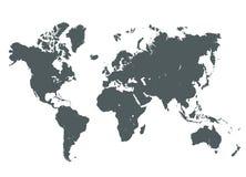Γκρίζα απεικόνιση παγκόσμιων χαρτών Στοκ εικόνα με δικαίωμα ελεύθερης χρήσης