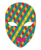 γκρίζα απομονωμένη μάσκα καρναβαλιού Στοκ εικόνες με δικαίωμα ελεύθερης χρήσης