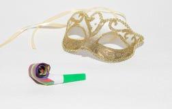 γκρίζα απομονωμένη μάσκα καρναβαλιού Στοκ Εικόνα