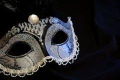 γκρίζα απομονωμένη μάσκα καρναβαλιού Στοκ Φωτογραφία