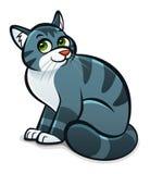 Γκρίζα γάτα κινούμενων σχεδίων Στοκ εικόνα με δικαίωμα ελεύθερης χρήσης