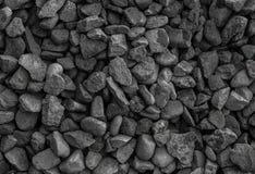 Γκρίζα γεωλογία υποβάθρου σκόνης αμμοχάλικου, μονοχρωματικό σύνολο σύστασης πετρών Στοκ Φωτογραφία